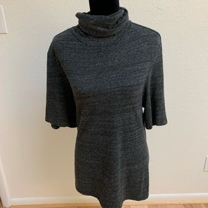 James Perse Gray Turtleneck SS Top